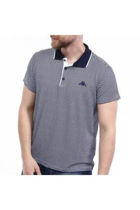 Kappa Erkek Lacivert Desenli Polo Yaka T-Shirt