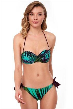 AYYILDIZ Kadın Yeşil Straplez Bikini Takımı 1564