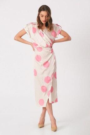 Robin Kadın  Düğme Detaylı Kruvaze Elbise