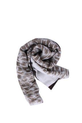 Calvin Klein Unihibited / Taupe / Dusted Ivory Kadın Ck Glitch Print Şal K60k603710
