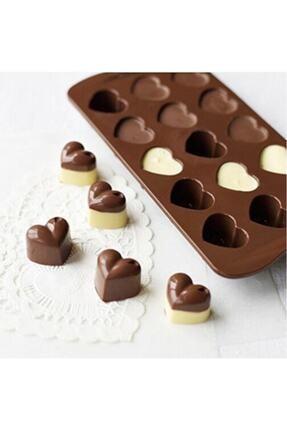 ENJOYPEPERON Silikon Çikolata Kalıbı, Kalp