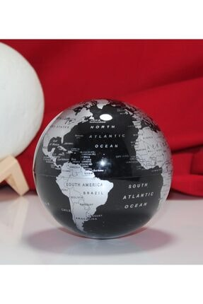 The Loggia Dekoratif Ofis Hediyesi Dönen Işıklı Dünya Küre Siyah Hediyelik