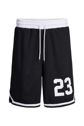 Jack & Jones Erkek Siyah Jack Jones Jjılegends Sweat Shorts Nb 12189755