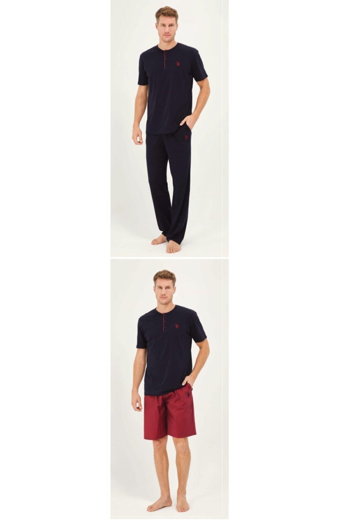 U.S. Polo Assn. Us Polo Lacivert Pijama Takım + Sort 12010 1