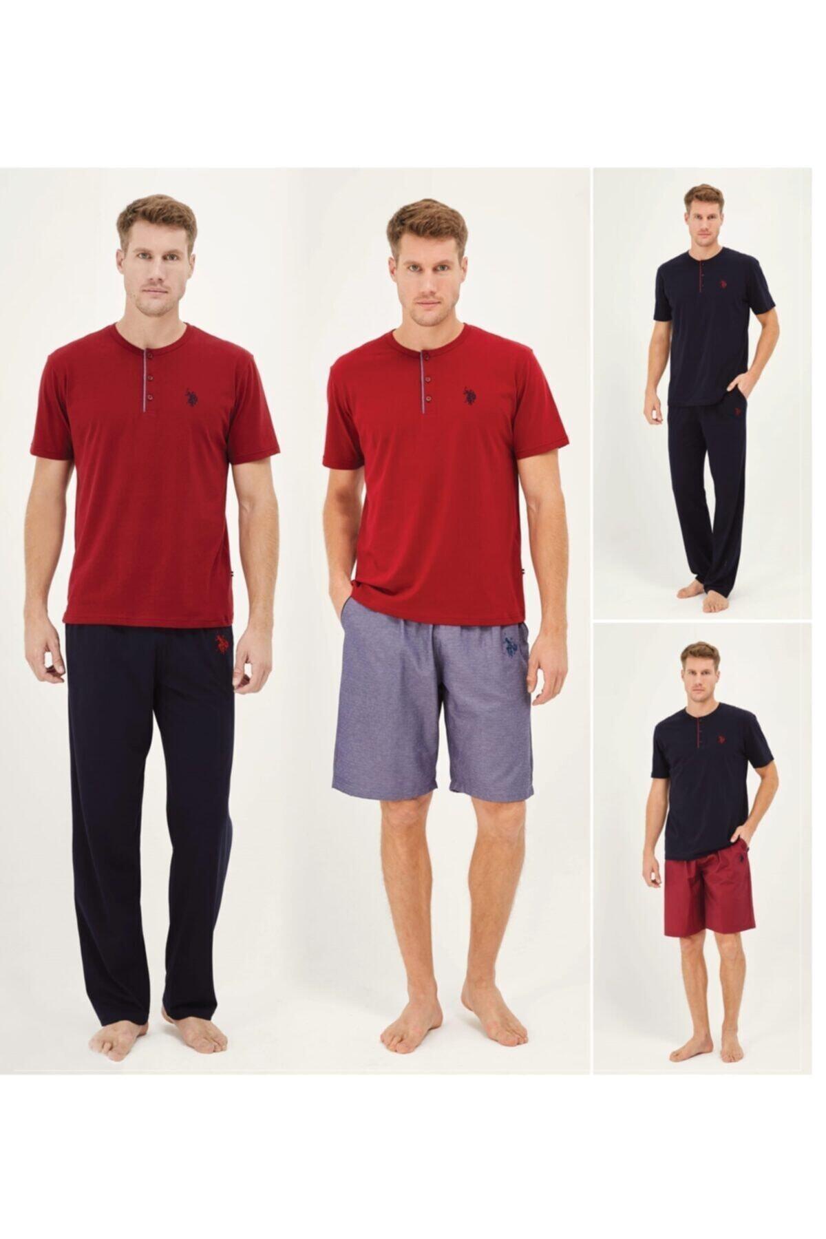 U.S. Polo Assn. Us Polo Lacivert Pijama Takım + Sort 12010 2