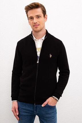 U.S. Polo Assn. Sıyah Erkek Triko Hırka