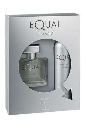 Equal Classic Edt 75 ml Ve 150 ml Vücut Losyonu Erkek Parfüm Seti 8690973366160