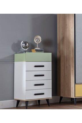 İSTİKBAL Cool Şifonyer Beyaz / Yeşil