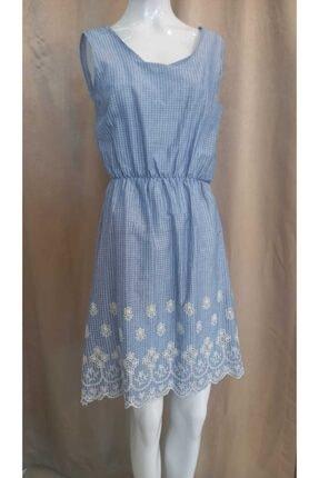 Journey Kadın Mavi Kalın Askılı Elbise