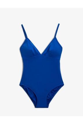 Koton Kadın Mavi Düz Renk Mayo