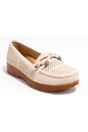 Polaris Kadın Bej Ortopedik Günlük  Ayakkabı
