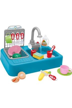 Kayyum Oyuncak Mavi Pilli Modern Mutfak Lavabo Seti 25 Parça