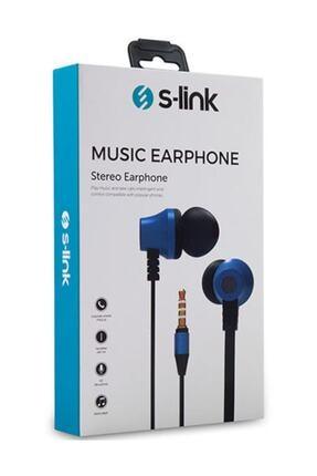S-LINK S-link Sl-ku150 Mobil Telefon Uyumlu Taşıma Çantalı Kulak Içi Siyah/mavi Mikrofonlu Kulaklık