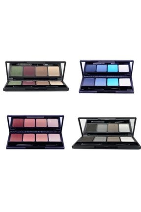 L'ACTONE Eye Shadow Palette Far Paleti 4 Lü Kampanyalı Set(16 Farklı Ton )