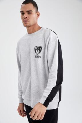 DeFacto NBA Lisanslı Unisex Oversize Fit Sweatshirt