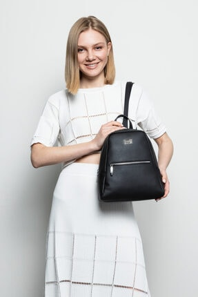 Marie Claire Kadın Siyah Sırt Çantası Jane Mc212102011