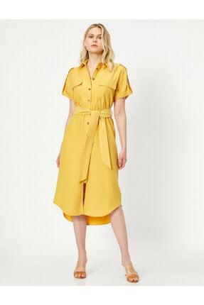 Koton Cep Detayli Gömlek Elbise