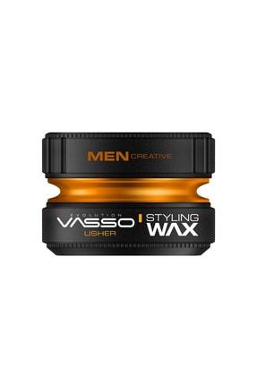 Vasso Men Tüm Saç Tipleri Için Parlaklık Ve Güçlü Tutuş Kazandıran Wax - Usher Pro Aqua 150 ml