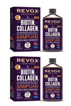 Revox Biotin Ve Collagen - At Kuyruğu Bitki Özlü Şampuan 2'li Set