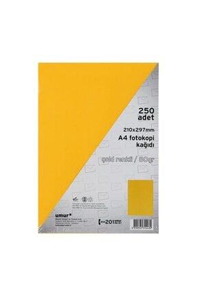 Umur Altın Sarısı A4 Renkli Fotokopi Kağıdı 80 g 250 Yaprak