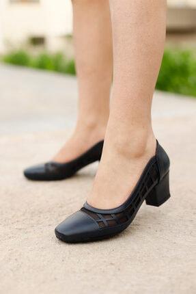 PUNTO Kadın Lacivert Fındık Topuklu Ayakkabı