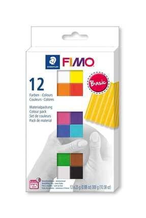 Eshel Fimo Basic Modelleme Kili Seti 12 Renk