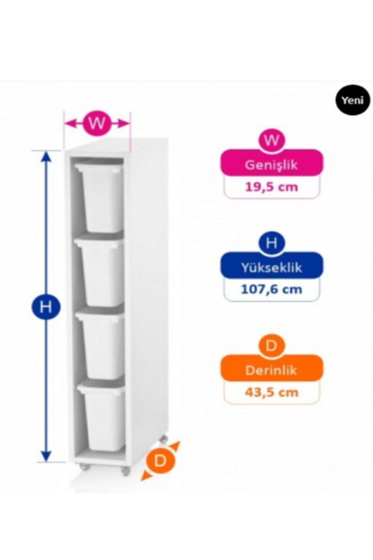 Vip Home Buz Dolap Yanı Trofast Saklama Ve Düzenleme Ünitesi 2