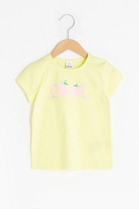LC Waikiki Kız Bebek Sarı Fpr T-Shirt