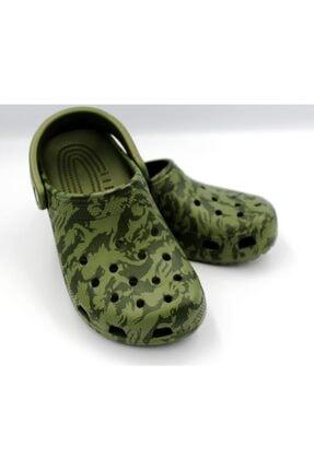 Crocs Yeşil Classic Printed Camo Clog