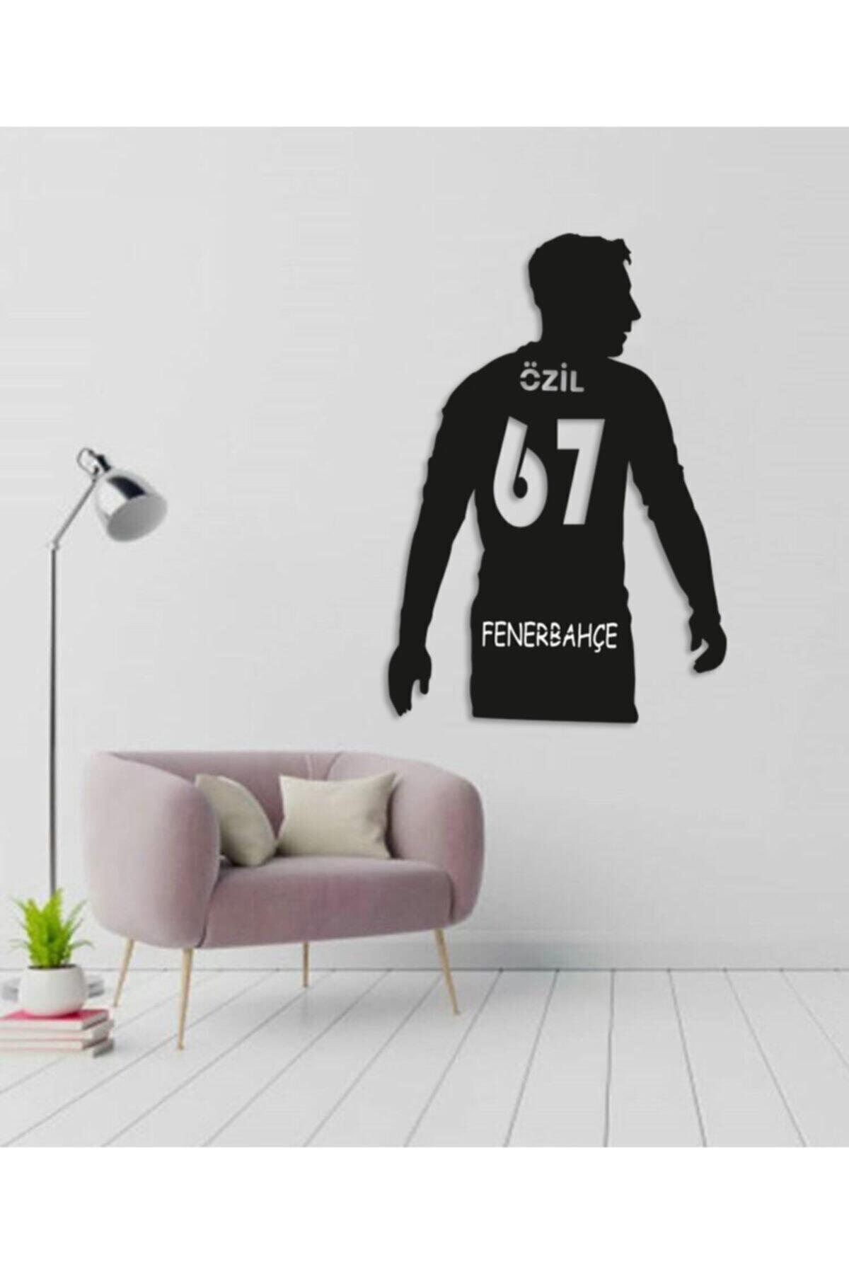 RetroLazer Mesut Özil Figürlü Dekoratif Ahşap Tablo 1