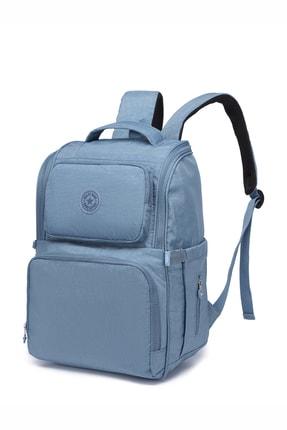 SMART BAGS Smbyb3000-0050 Buz Mavi Kadın Bebek Bakım Sırt Çantası