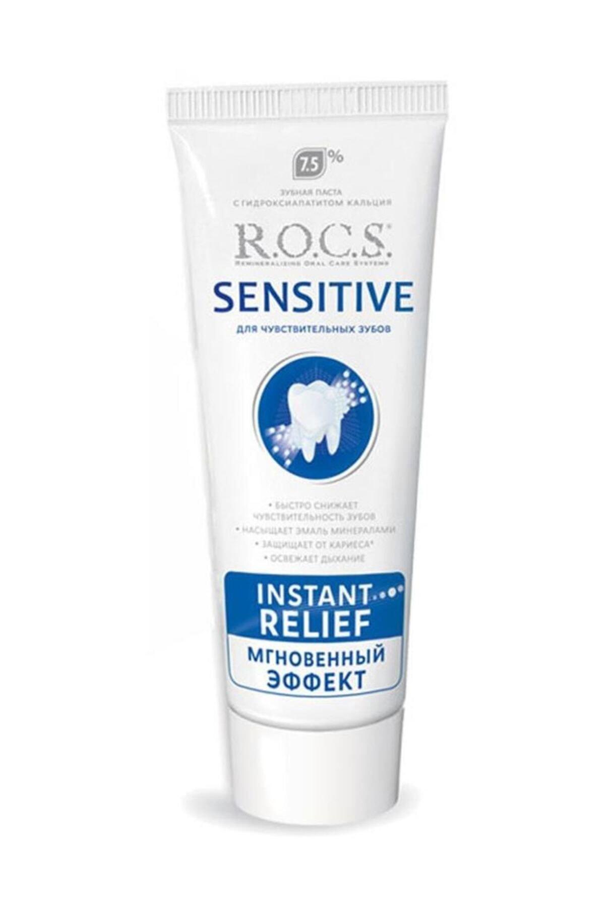 R.O.C.S. Sensitive Instant Relief Anında Ferahlık Florürsüz Diş Macunu 75 ml 1