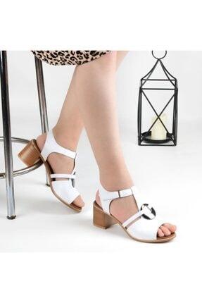 Pandora Kadın Beyaz Topuklu Sandalet Ka647