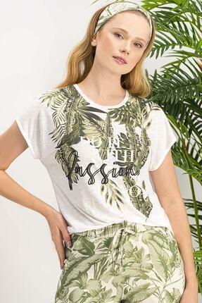 Arnetta Kadın Amazon Tropical Krem Pijama Takımı