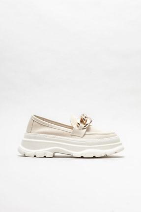 Elle Shoes Kadın  Bej  Loafer