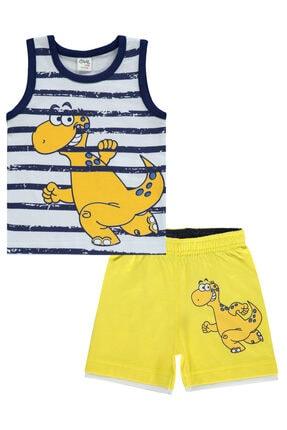 Civil Baby Erkek Bebek Sarı  Şortlu Takım
