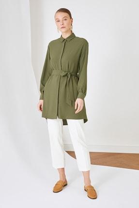 Trendyol Modest Yeşil Gömlek Yaka Tunik TCTSS21TN0049