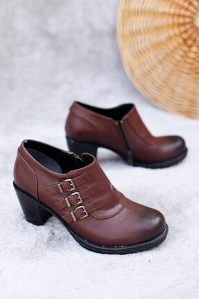 PUNTO Kadın Bordo Mevsimlik Butik Topuklu Ayakkabı