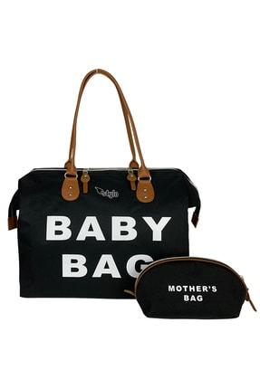 Stylo Siyah Large Boy Baby Bag Kadın Ve Bebek Bakım Çantası