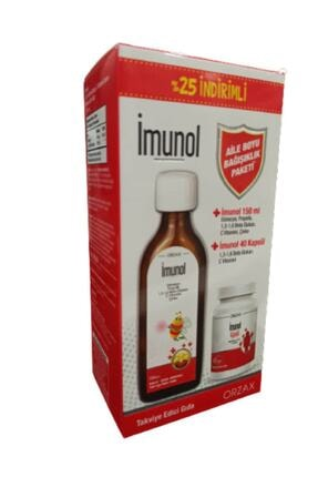 Orzax Imunol Şurup ve Imunol Kapsül Aile Boyu Bağışıklık Paketi