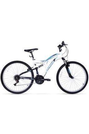 Falcon Camino 26 Jant 21 Vites Çift Amortisörlü Beyaz-mavi Bisiklet