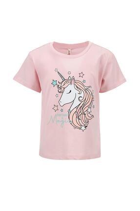 DeFacto Kız Çocuk Unicorn Baskılı Renk Değiştiren Kısa Kol Tişört