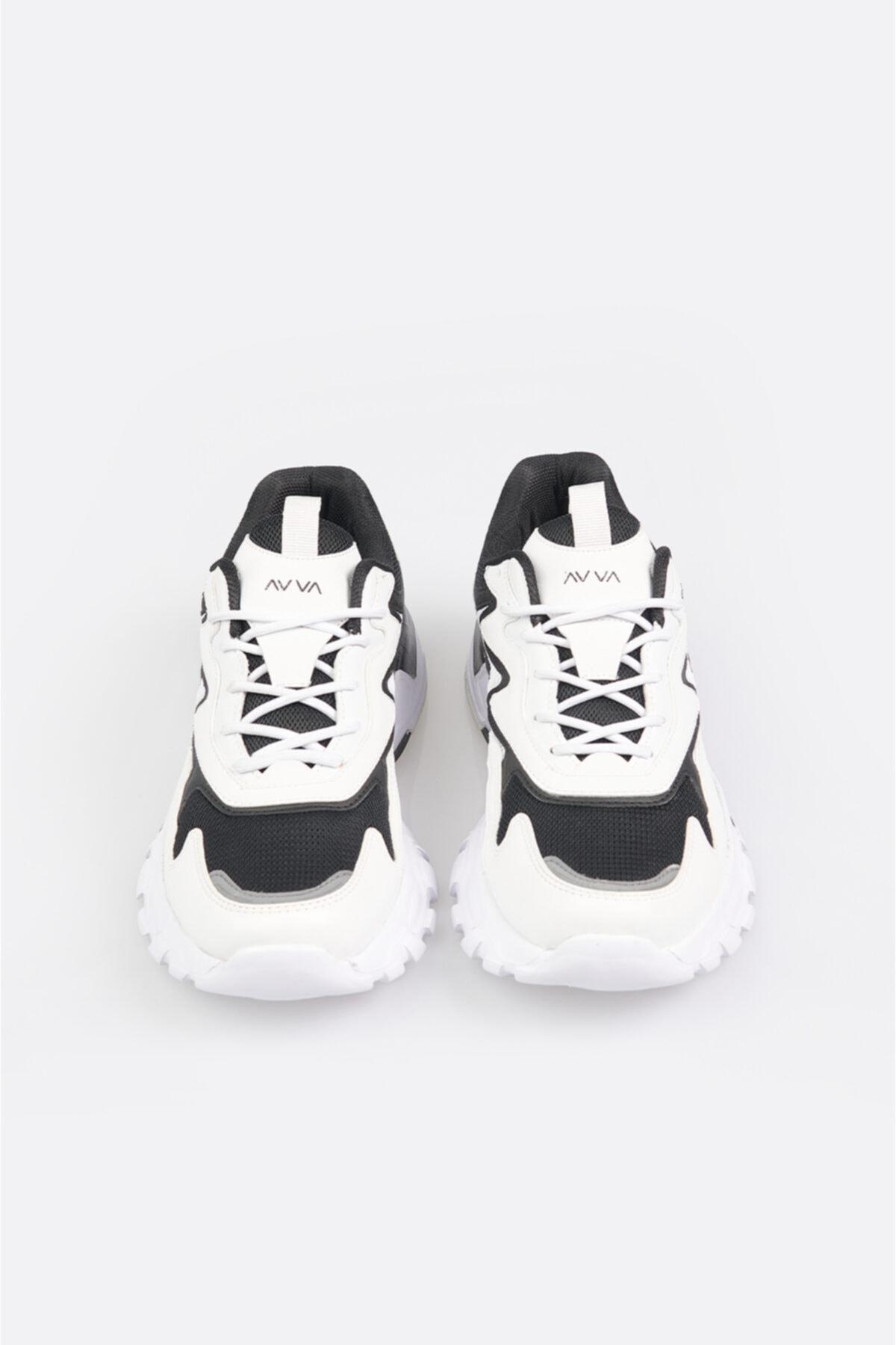 Avva Erkek Beyaz Garnili Spor Ayakkabı A11y8011 2