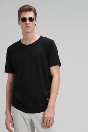 Lufian Junya Modern Grafik T- Shirt Siyah
