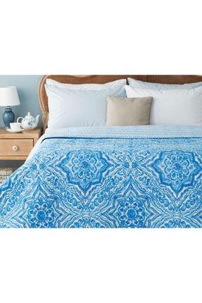 Madame Coco Cadance Baskılı Çift Kişilik Yatak Örtüsü - Mavi