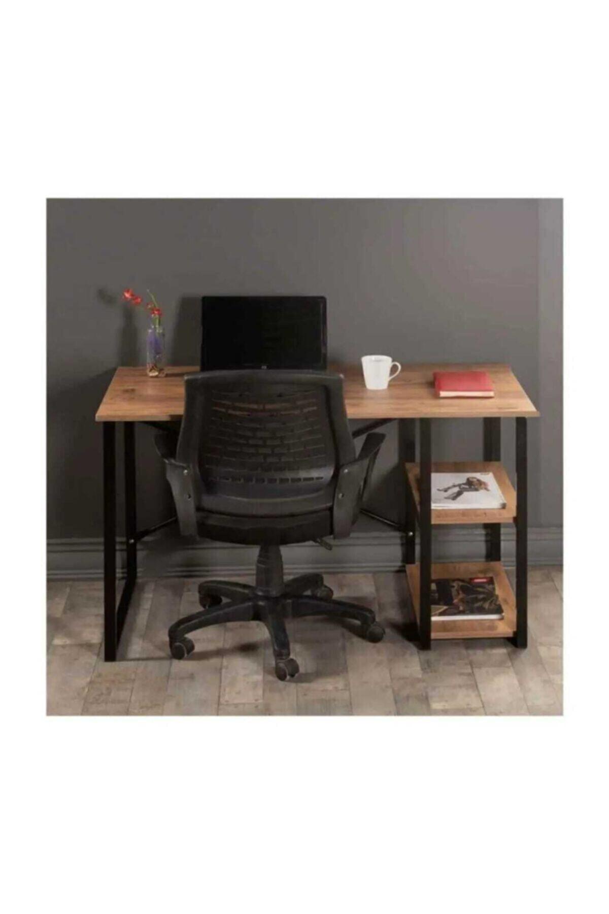 Mavera Home Çalışma Masası Ceviz Renk Bilgisayar Ve Laptop Masası Çalışma Ofis Masası 2