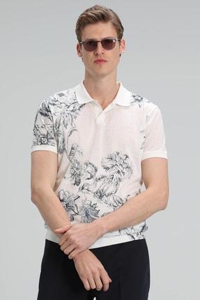 Lufian Mason Spor Polo T- Shirt Kırık Beyaz