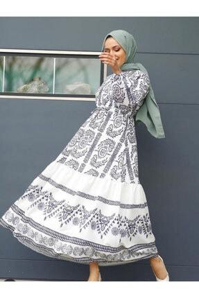 Meri Kadın Beyaz Otantik Elbise