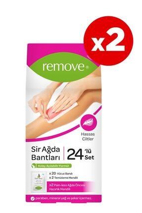 remove 24'lü Sir Ağda Bantları Hassas Ciltler X2 Adet