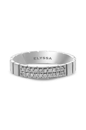 Elyssa Jewelry 14 Ayar Iki Sıra Pırlanta Yüzük